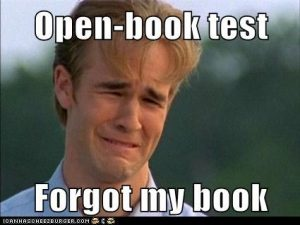 Open book test