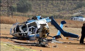 Helicopter plane crash
